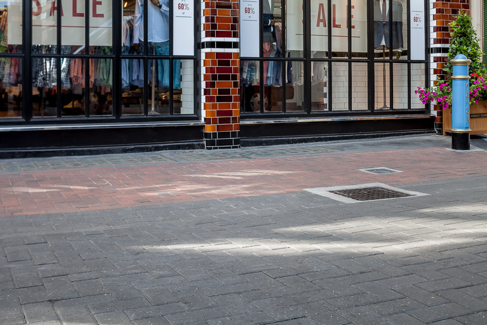 New paving by Brett landscape products in Carnaby Street, London